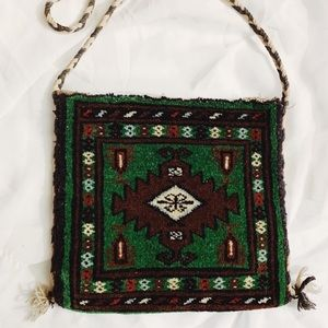 Vintage Handmade Pakistan Carpet Shoulder Bag